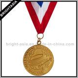 기념품 (BYH-10202)를 위한 황금 방아끈 큰 메달 스포츠 금속