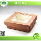 Contenitore di carta di insalata con la finestra