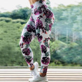 Topo Peachy de secagem rápida elevação do quadril Perneiras Brasileiro Calças de ioga de cintura elevada Ginásio Perneiras Sports apertado para as mulheres