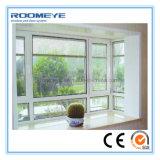 Roomeye PVC&UPVC doppeltes Glaswindows UPVC Fenster mit hochwertigem 2 Panel Belüftung-Flügelfenster-Fenster
