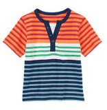 Kid's usure T-shirt à rayures colorées