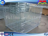 Сверхмощная Stackable стальная клетка паллета ячеистой сети/клетка хранения (FLM-K-006)