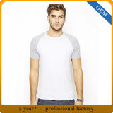남자의 고품질 면 야구 Raglan 소매 t-셔츠