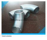 Aço inoxidável sem emenda 90 cotovelo do ANSI B16.9 do grau