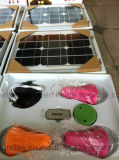 Mini bewegliche Sonnenenergie Sonnenenergie-Ausgangsgeneratoren der LED-helle Installationssatz-11V für Hauptbeleuchtung