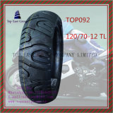 De Nylon 6pr Super Kwaliteit van ISO, de Zonder binnenband, Met lange levensuur Band van de Motorfiets met Grootte: 120/70-12tl