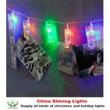 クリスマスの照明の新年党結婚式のホーム装飾クリップ写真ストリング電池ライト