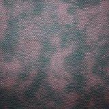 Cuir synthétique en cuir gravé en relief classique de sac d'unité centrale estampé double par couleur