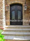 72 '' X 96 '' Forged Iron Double Door com Aquatex Dual Pane Glass