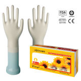 Удалите порошок/порошка свободного виниловых перчаток (ISO, CE сертифицирована)