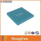 Rectángulo de empaquetado de la insignia del papel del embalaje de encargo del regalo para la bufanda