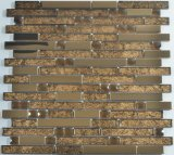 ホイルのステンレス鋼が付いている背部ガラスモザイク組合せ