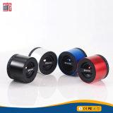원형 암청색 빨간 짜개진 조각 휴대용 Bluetooth 무선 스피커