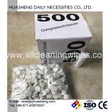 압축 수건은 상자 당 500PCS를 메모장에 기입한다