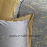 Folhas de base de linho usadas Home de seda luxuosas do projeto do bordado