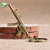 판매를 위한 아연 합금 소형 전자총 모양 Keychain