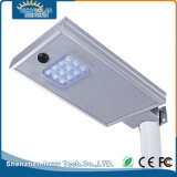 12W todo en una lámpara de calle solar de la venta al por mayor al aire libre LED de la iluminación