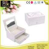 新製品のミラー(8562)が付いているハイエンドLeatherjewelryボックス