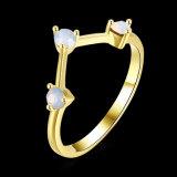 De imitatie Geplateerde Ring van het Ontwerp van Juwelen Eenvoudige Goud voor Partij
