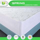 Cubierta de colchón plástica de bambú ajustada hipoalérgica libre del vinilo impermeable