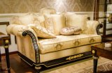 Veneer высокой картины лоска E69 роскошный покрыл софу твердой древесины королевскую