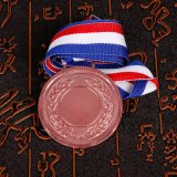 De aangepaste Medaille van de Marathon van de Medaille van het Embleem met Sleutelkoord