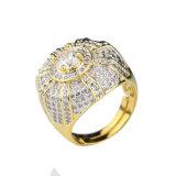 China In het groot Hip Hop 925 de Zilveren Ring van CZ voor Mensen Mjhp018