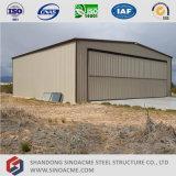 Stahlkonstruktion-Hangar mit Falz-Tür