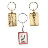Nach Maß langer reizender Schlüssel formt weiches Decklack-Metall Keychain mit Firmenzeichen