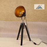 까맣 금 Shadetable 램프 (C5007371-1)를 가진 매트 까만 삼각
