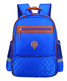 Bleu royal de double d'épaule de la fille du garçon du logo personnalisé par cartable des enfants du sac 1-3-4-6 de pente d'école personnalisation de sac à dos