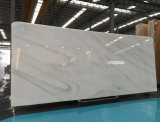 美しい静脈が付いている多彩で白い大理石の平板かタイルまたはカウンタートップ