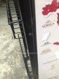 Soportes de visualización echados a un lado dobles de múltiples capas del vino del metal del alambre