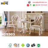 Европейская классицистическая софа кожи 1+2+3 Genuinr мебели (HC828)