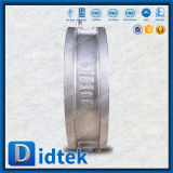 L'acciaio inossidabile CF8 di Didtek l'api 6D si raddoppia valvola di ritenuta della cialda del piatto