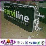 Departamento de acrílico iluminado y publicidad del rectángulo ligero del LED