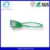 Tag passivo do selo da cinta plástica dos bens RFID para o seguimento expresso