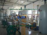 El aceite de palma haciendo facilidades para la línea de producción de aceite de palma de la refinería