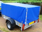 el PVC impermeable resistente 18oz cubrió la cubierta del carro de acoplado del encerado