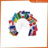 최고 판매 고품질 대나무 나무로 되는 폴란드 모든 국가 소형 소형 깃발