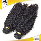 ぬれた、波状ブラジルの深い波の人間の毛髪