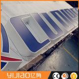 China LED profesional firma la señalización por encargo de las cartas de canal del Lit del halo de la publicidad comercial de la fábrica