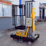 Única plataforma de levantamento da liga de alumínio da coluna
