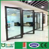 Porta de vidro de isolamento de Bifolding com frame do alumínio de 2.0mm