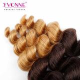 イボンヌの卸し売りペルーの毛のOmbreの毛の緩い波の毛カラーT1b/30