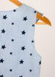 Новый сладкий Flouncing печать Cute летом без рукавов с порванный жгут