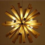 Weinlese-hölzerne runde Leuchter-Beleuchtung für Hotel