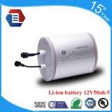 Batteria di litio dello Li-ione dell'OEM 12V 50ah per l'indicatore luminoso di via solare