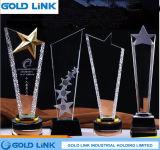 Lembrança acrílica de cristal da concessão do evento do troféu do metal feito sob encomenda dos troféus