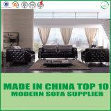 Sofá europeo de lujo de la sala de estar del cuero genuino del sofá del durmiente del estilo